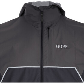 GORE WEAR R7 Partial Gore-Tex Infinium Hooded Jacket Herr black/terra grey